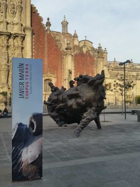 Sculpture in the Zocalo - Mexico City