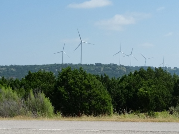 WIndmills in the Texas Hill Country