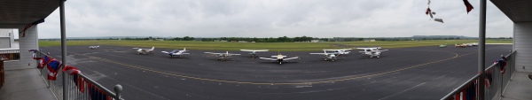 Panoramic View from the Hangar Hotel