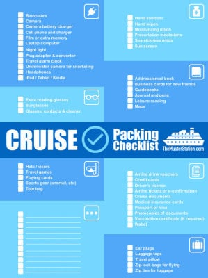 Travel Tip - Cruise Necesities
